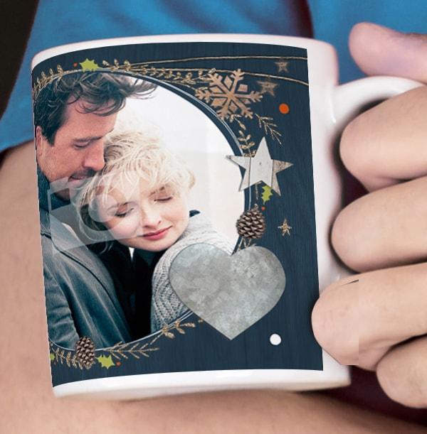 Husband Christmas Kisses Personalised Mug