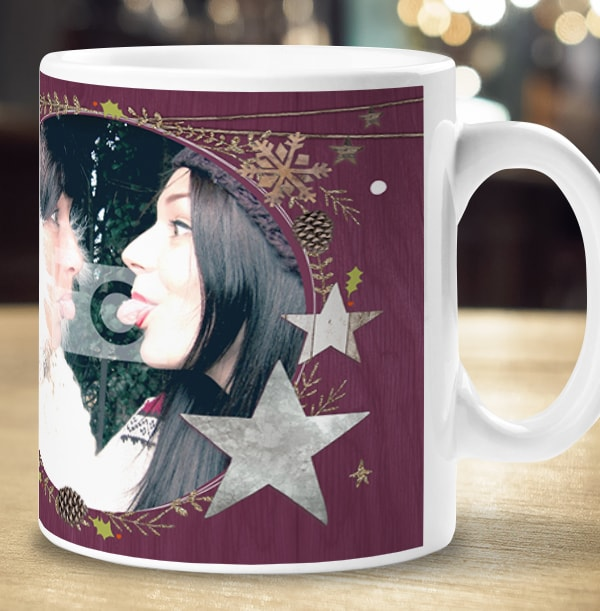Mum Merry Christmas Personalised Mug