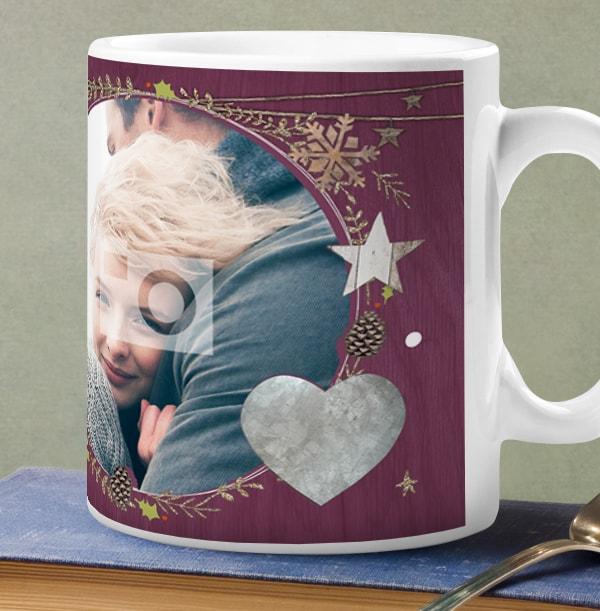 Wife Christmas Kisses Personalised Mug