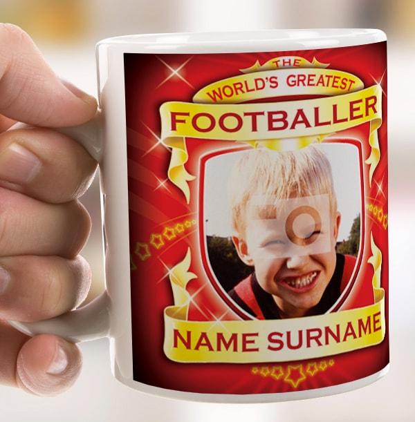 World's Greatest Footballer Personalised Mug