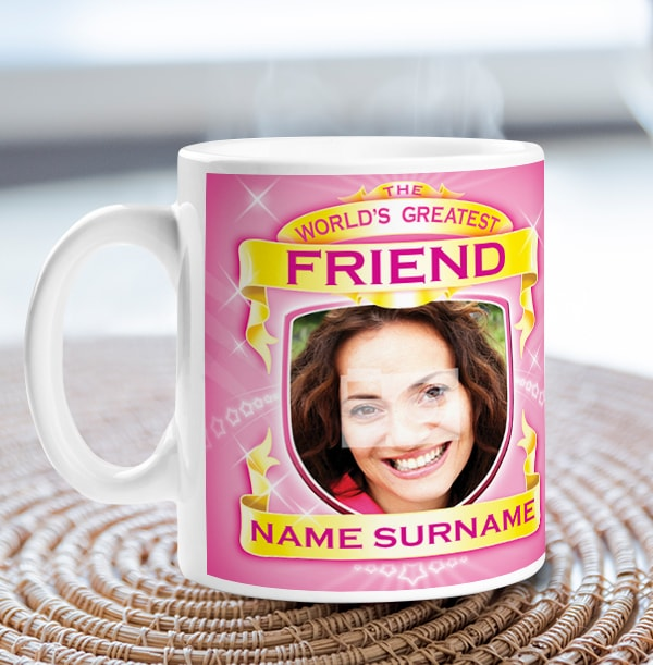 World's Greatest Friend Personalised Mug