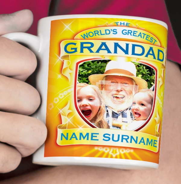 World's Greatest Grandad Personalised Mug