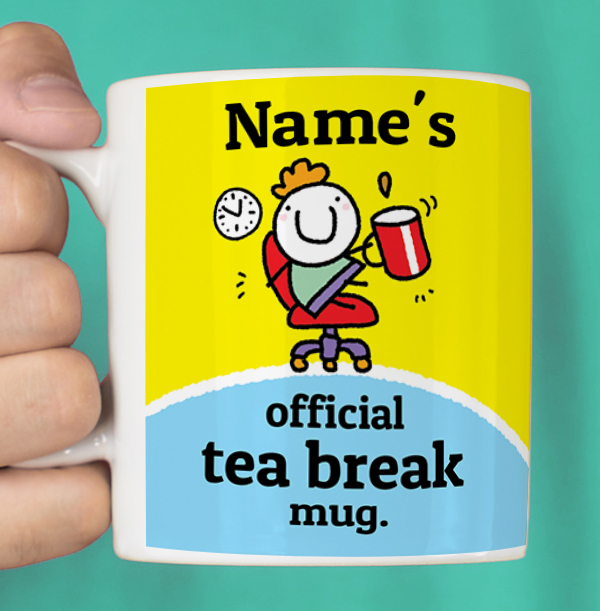 Official Tea Break Personalised Mug