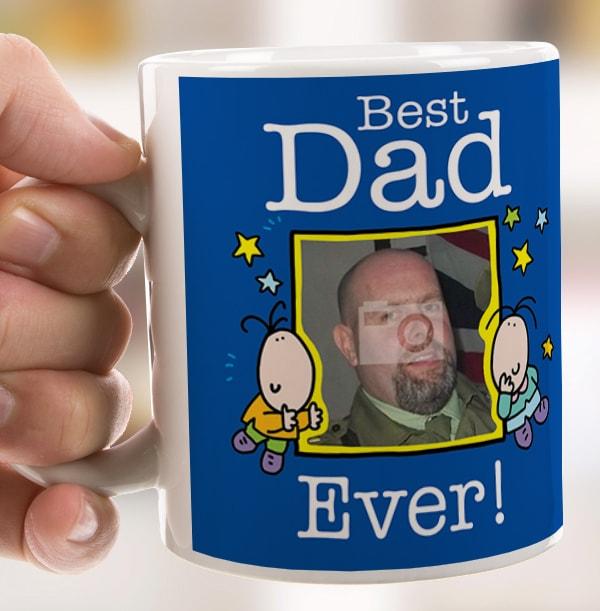Best Dad Ever Personalised Mug - Lemon Squeezy