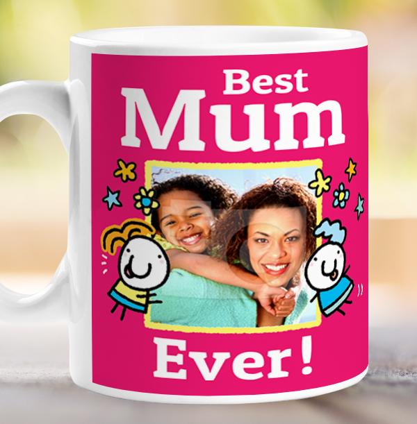 Best Mum Ever Personalised Mug - Lemon Squeezy