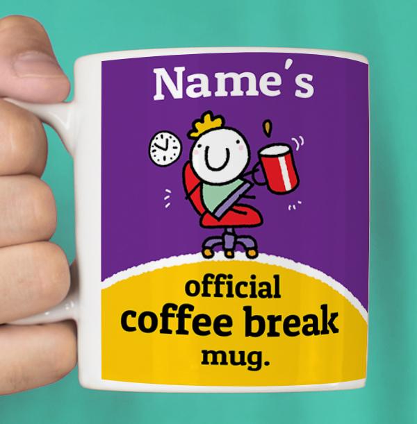 Official Coffee Break Personalised Mug - Lemon Squeezy