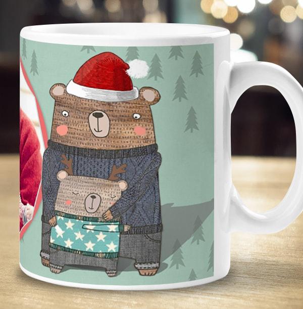 Grandad Happy Christmas Photo Mug
