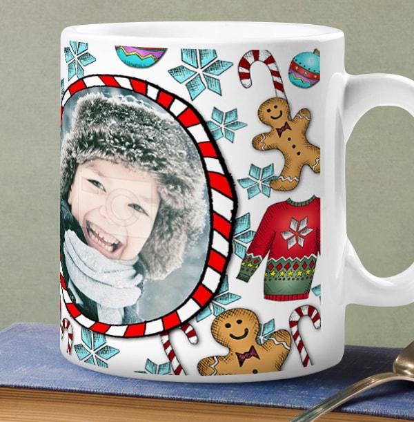 Love Christmas Treats Photo Upload Personalised Mug