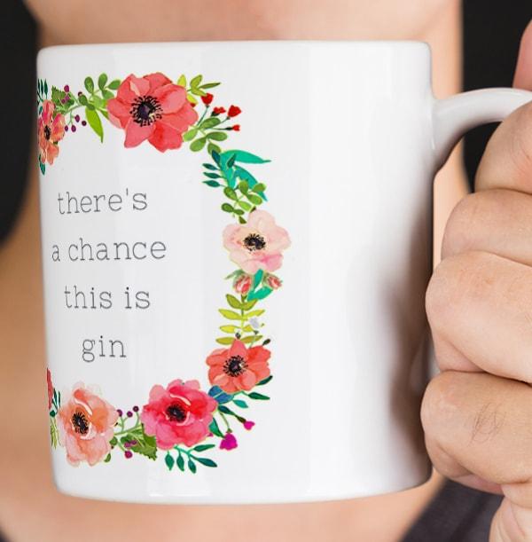 A Chance of Gin Personalised Mug