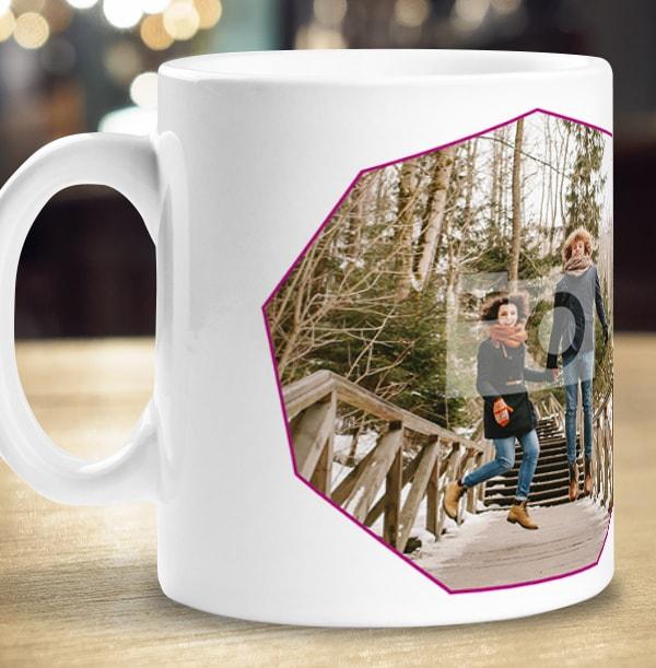Merry & Bright Photo Upload Personalised Mug
