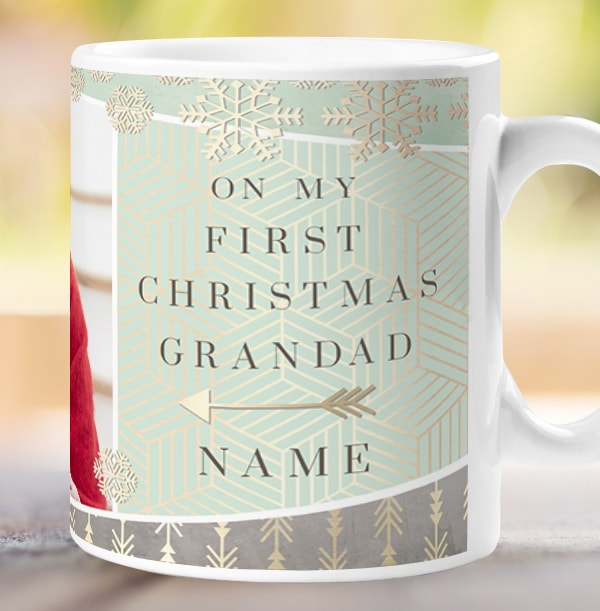 Grandparent First Christmas Photo Mug