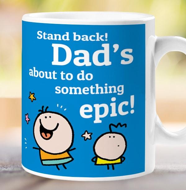 Dad's Super Power Personalised Mug