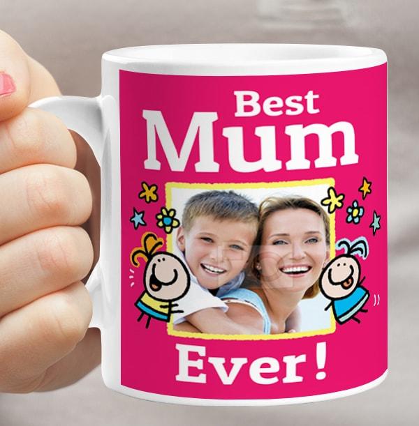 Best Mum Ever Photo Mug
