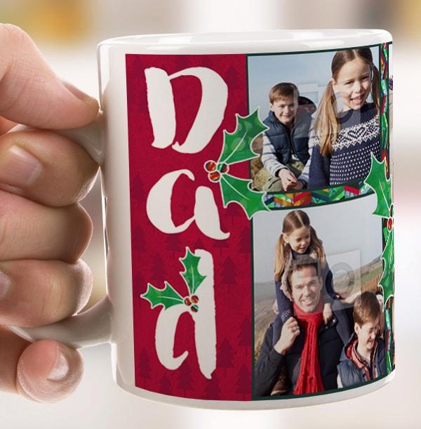 We Love You Dad - Photo Christmas Mug