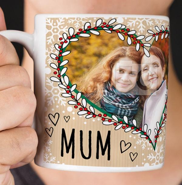 Mum Love Hearts 2 Photo Mug