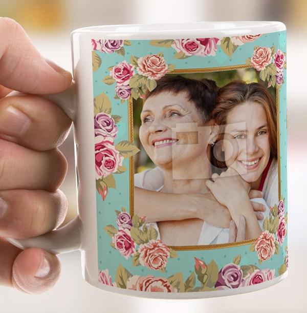 Daughter Vintage Roses Personalised Mug