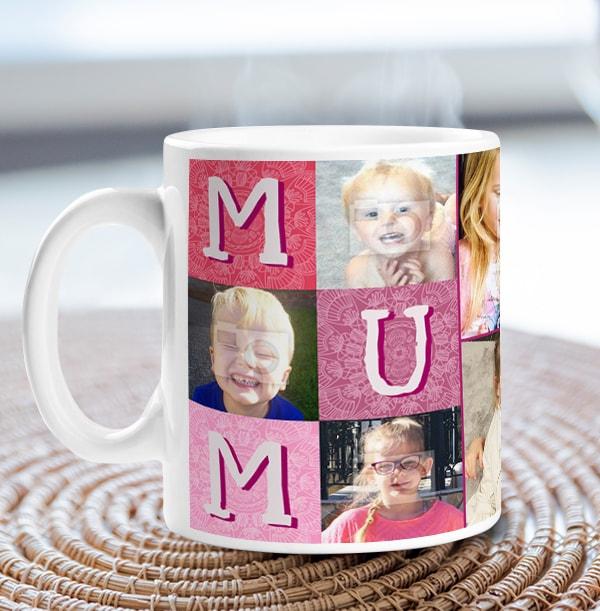 Mum - Love You Multi Photo Mug