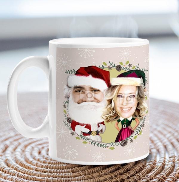 Mr & Mrs Claus Photo Mug