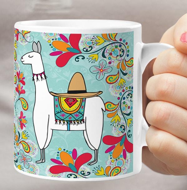 Llama Personalised Mug