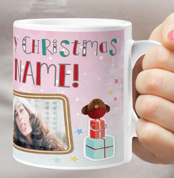Barley Bear Christmas Personalised Mug