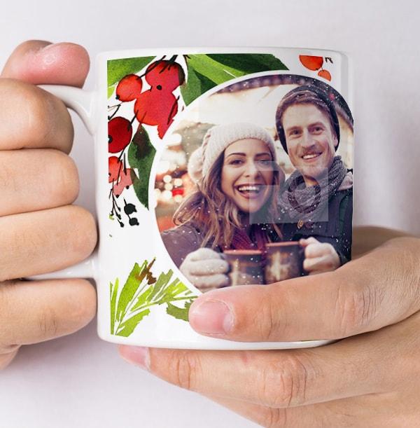 Berries and Blooms Photo Upload Mug