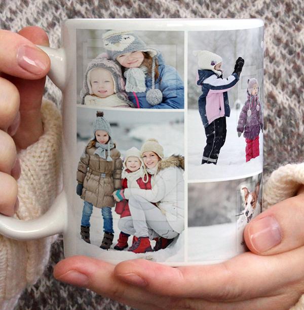 Christmas Multi Photo Personalised Mug