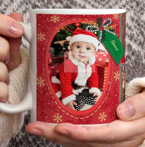 Merry Christmas Photo Upload Mug