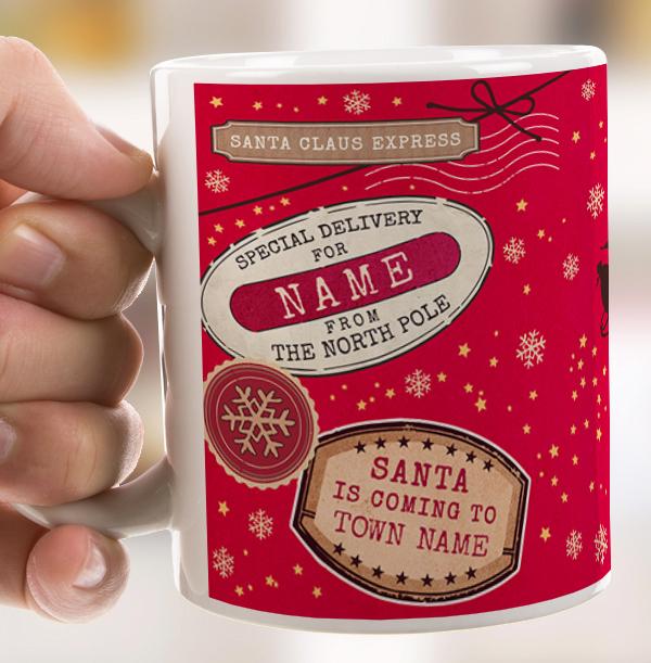 Santa Express Personalised Photo Mug
