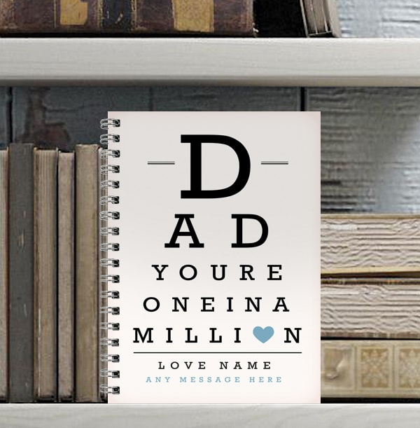 Dad One in a Million Personalised Notebook