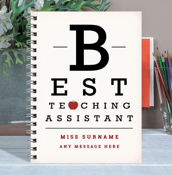 Best Teaching Assistant Personalised Notebook, Any Message