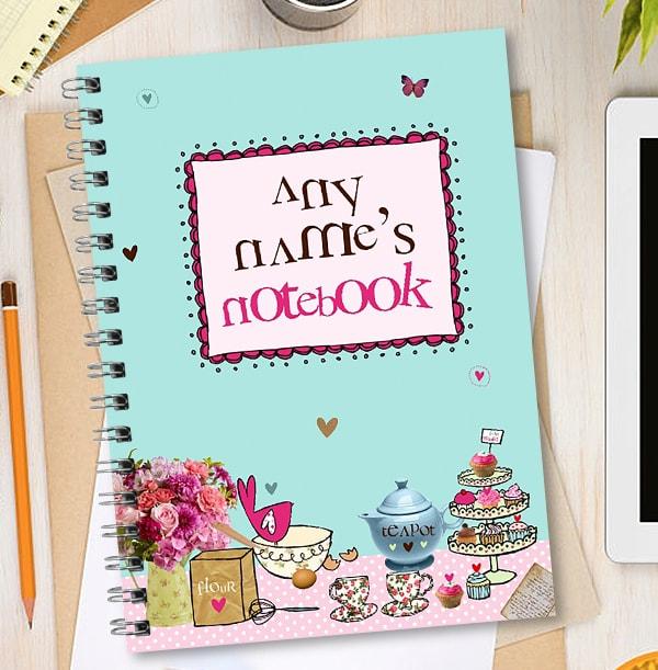 Personalised Name Baking Cake Notebook