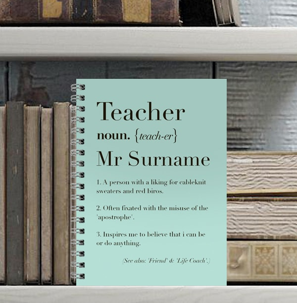 Personalised Teacher Definition Notebook