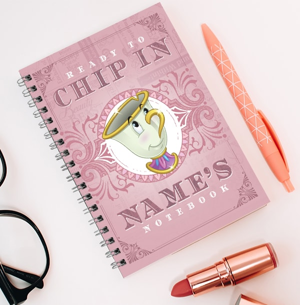 Beauty and the Beast Personalised Chip Notebook