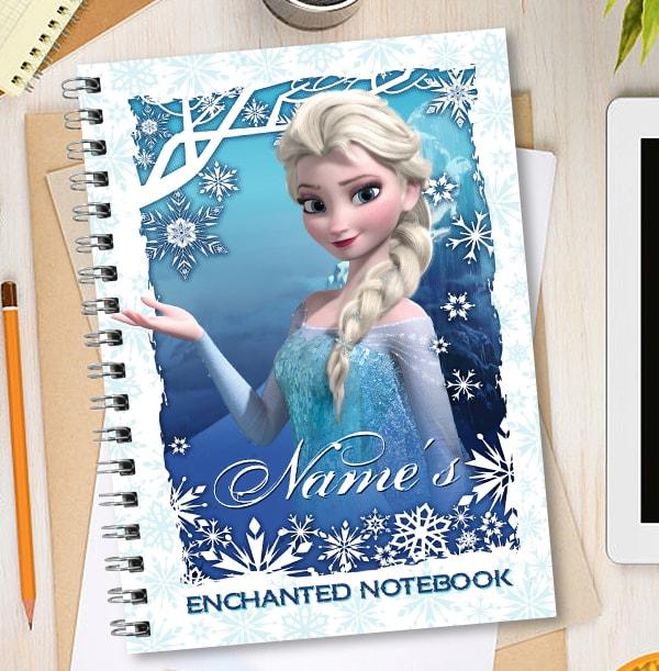 Disney Frozen Elsa Personalised Notebook