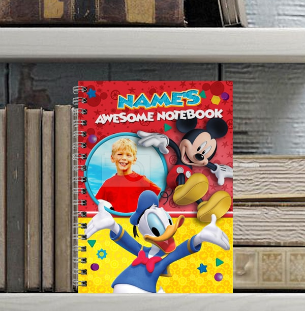 Mickey Mouse & Donald Duck Photo Notebook, For Kids