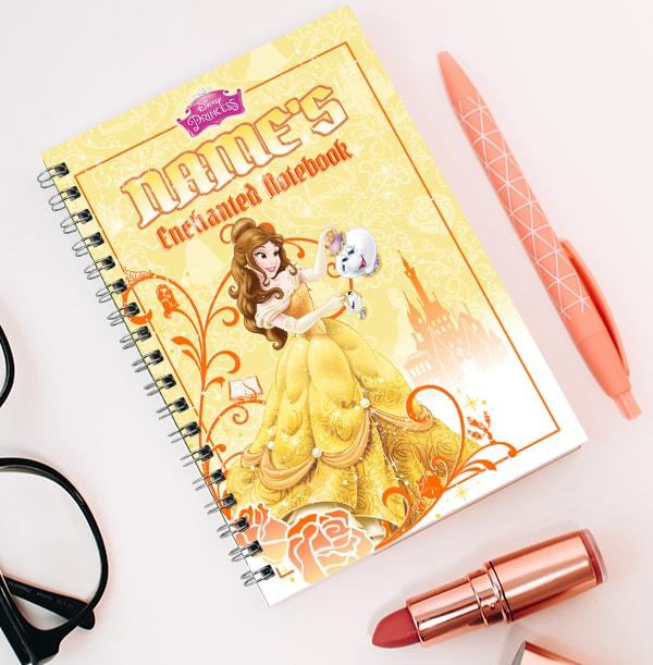 Personalised Belle Notebook, Disney Princess