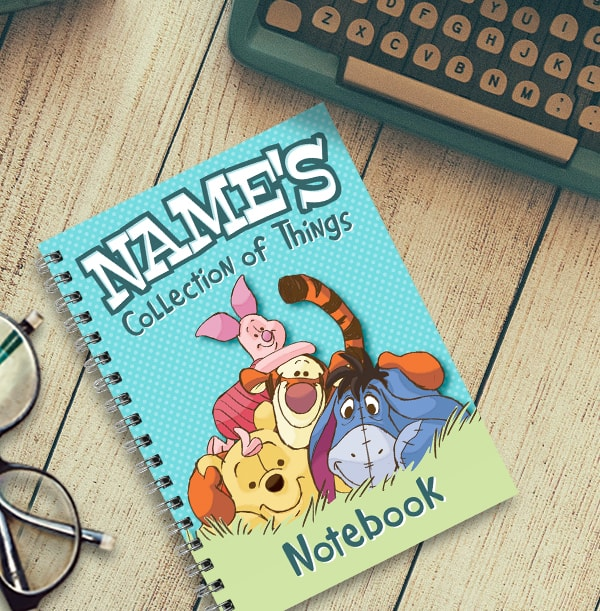 Winnie The Pooh Personalised Notebook
