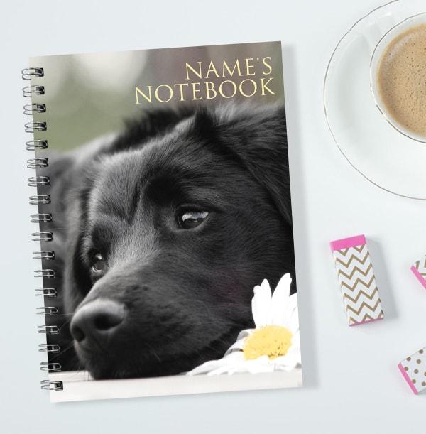 Labrador Puppy Personalised Notebook