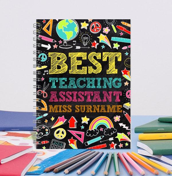 Best Teaching Assistant Personalised Notebook, Chalkboard