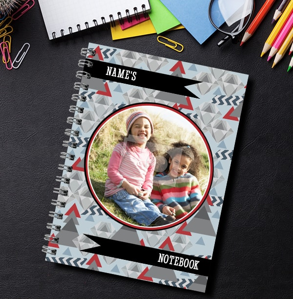 Geo Pattern Photo Upload Notebook