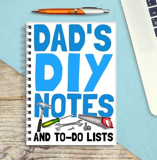 Dad's DIY Personalised Notebook
