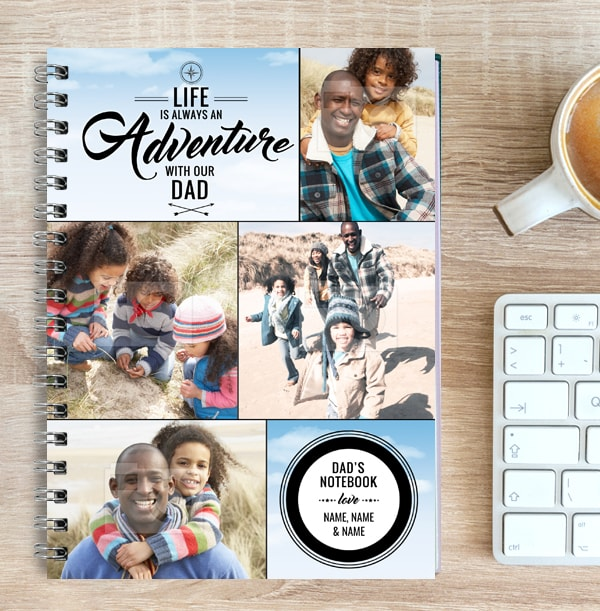 Dad Photo Collage Notebook, Adventure