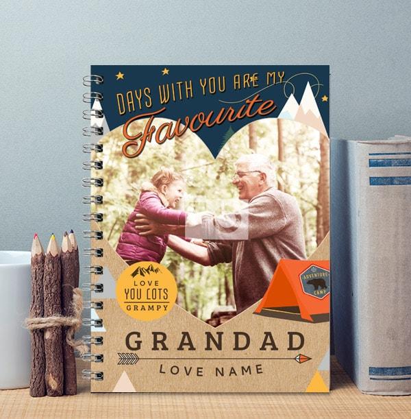 Personalised Grandad Notebook From Kids, Single Photo