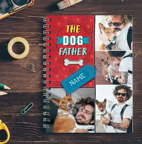 Dog Father Photo Collage Notebook