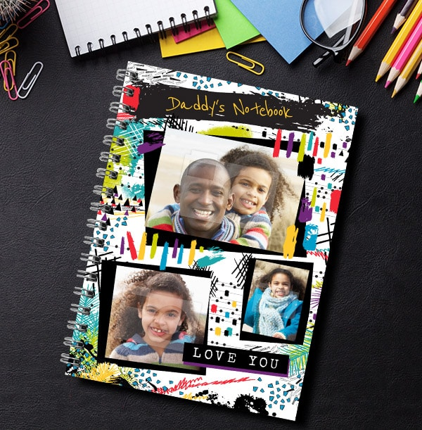 Daddy's Photo Collage Notebook From Daughter