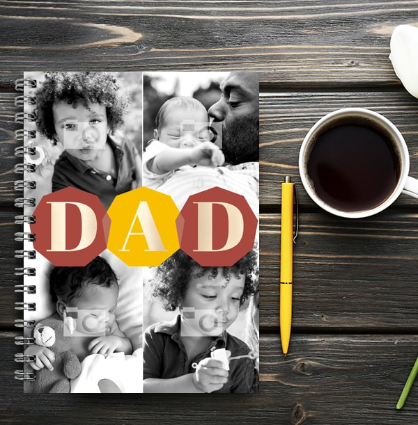 DAD Multi Photo Notebook, from Kids