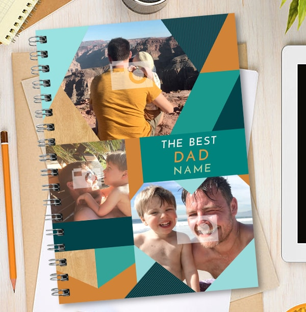 The Best Dad Multi Photo Notebook