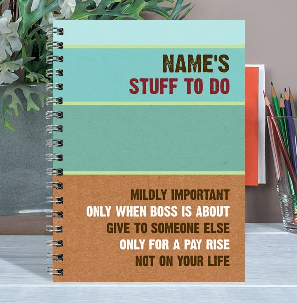 Personalised Sarcastic To Do List Notebook