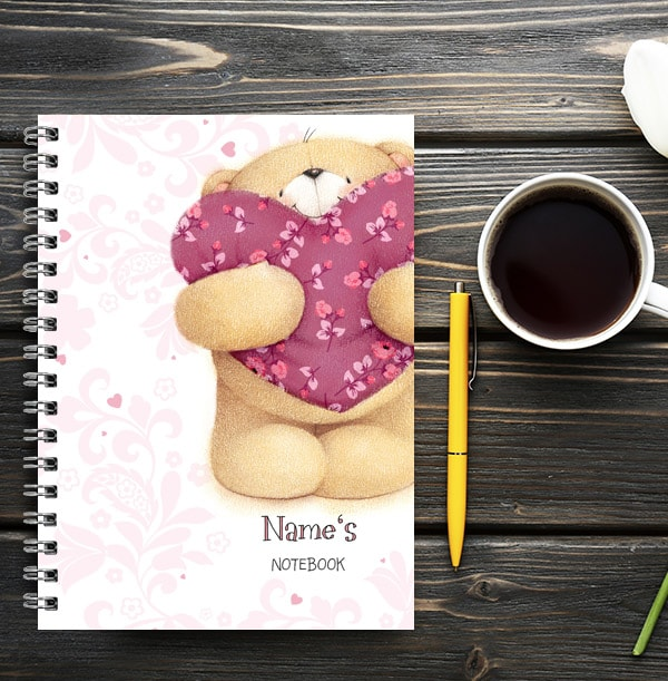 Forever Friends Personalised Romance Notebook
