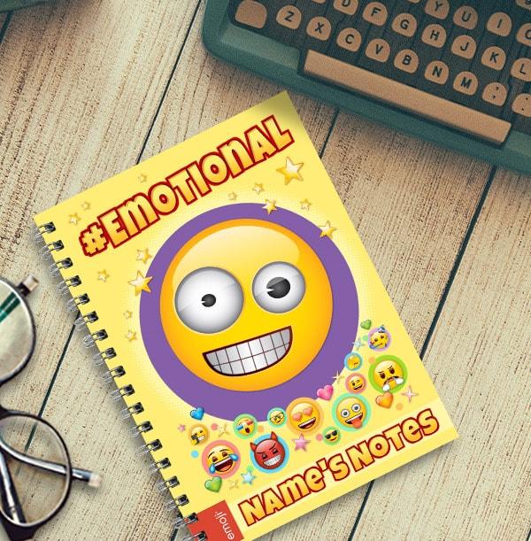 Emoji Personalised Notebook - Emotional